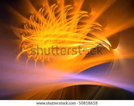 Orange Spokes - stock photo