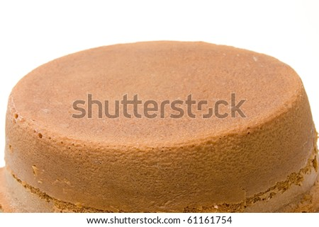 orange sponge cake over white background - stock photo