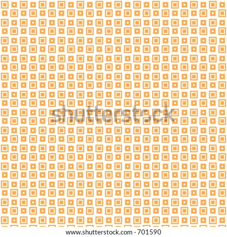 Orange squares mod background - stock photo