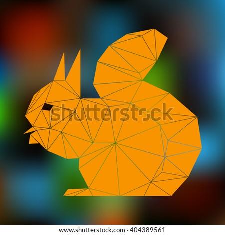 orange squirrel triangles - stock photo
