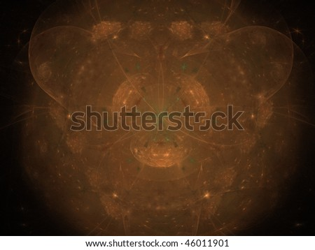 Orange stars - abstract background - stock photo
