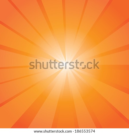 Orange Sun Rays Background Template Illustration Stock Illustration ...