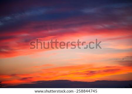 orange sunset - stock photo