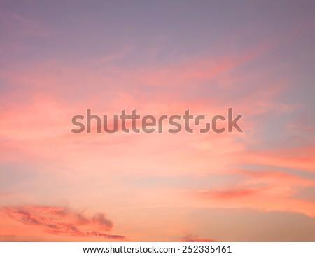 Orange sunset sky - stock photo