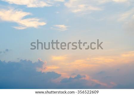 Orange sunset sky,Sunset Sky Background - stock photo