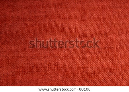 orange texture of old fabric - stock photo