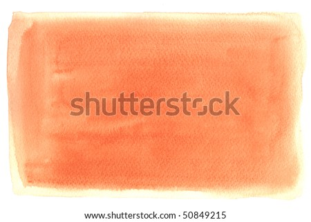 orange texture watercolor background painting - with space for your design - stock photo