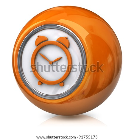 Orange time icon - stock photo