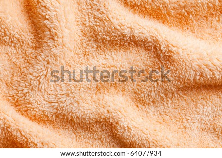 orange towel background - stock photo