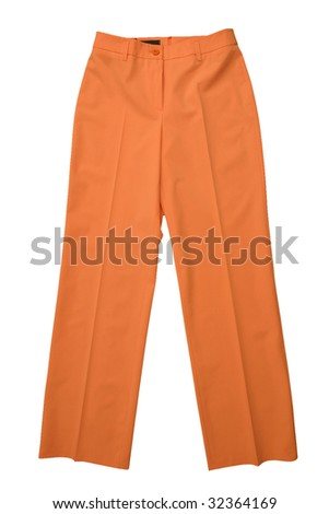 orange trousers pants