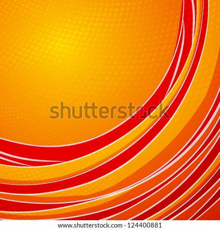 Orange vertical lines abstraction - stock photo