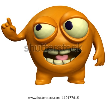 orange virus - stock photo