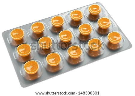 Orange - Vitamin C - stock photo