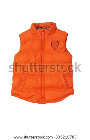 orange waistcoat isolated on white