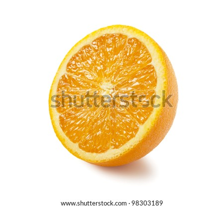 Orange was placed on a white background - stock photo