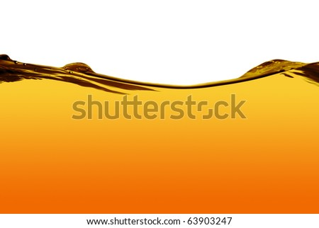Orange water line isolated on a white background. - stock photo