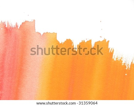 Orange watercolor abstract background
