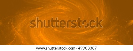 Orange wave background - stock photo