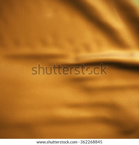 Orange Waving flag background. Luxury fabric background. - stock photo