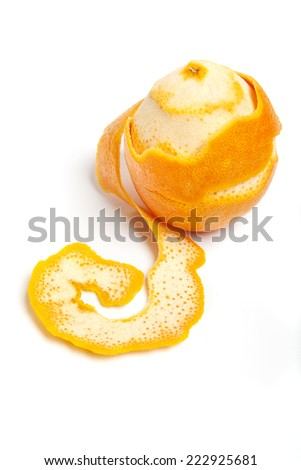 orange with peel stripped. ingredients for hot drinks - stock photo