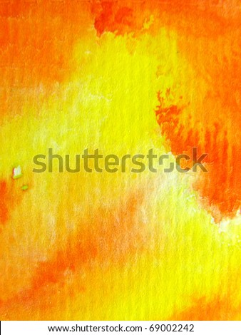 Orange with Yellow Watercolor Background 1