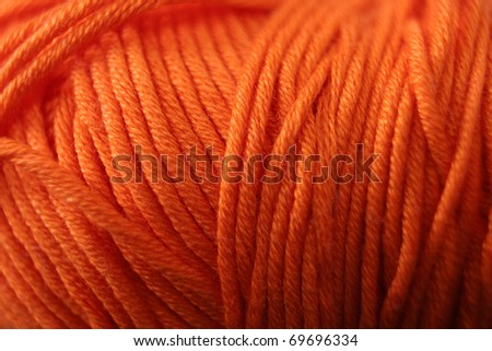Orange wool. Abstract background - stock photo