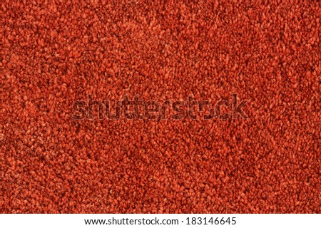 Orange wool carpet texture. Abstract background. Macro. - stock photo