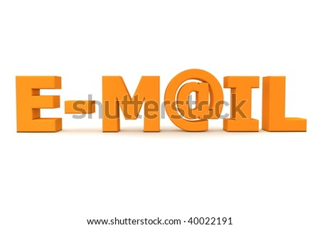 orange word Digital - letter A is replaced by the email symbol AT - frontally