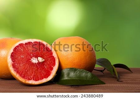 oranges and grapefruit - stock photo