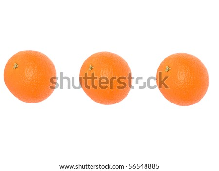 oranges isolated on the white background - stock photo