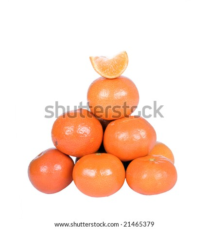 oranges on the white background
