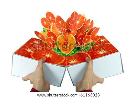 oranges pop-up,oranges  popup - stock photo