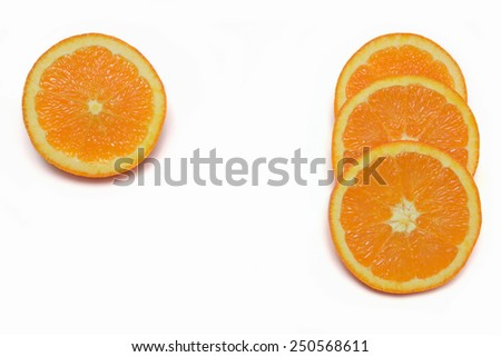 Oranges slices - stock photo