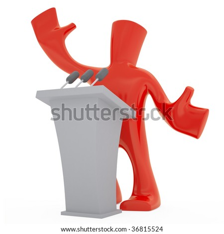 orator - stock photo