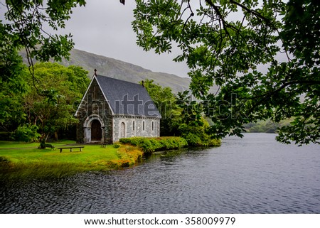 Oratory in Gougane Barra National Park in Ireland - stock photo