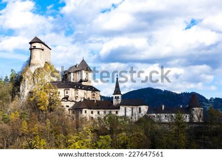 Oravsky Castle, Slovakia - stock photo