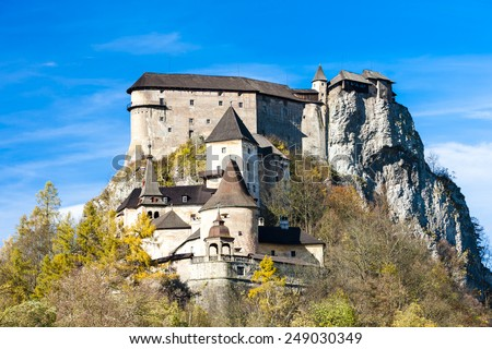 Oravsky Castle, Slovakia - stock photo