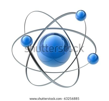 Orbital model of atom - stock photo