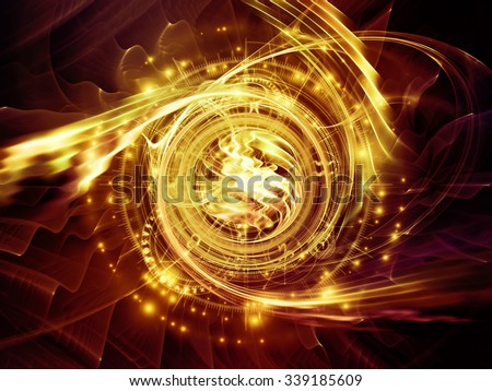 Orbits of Destiny series. Background design of sacred symbols, signs, geometry and designs on the subject of astrology, alchemy, magic, witchcraft and fortune telling - stock photo