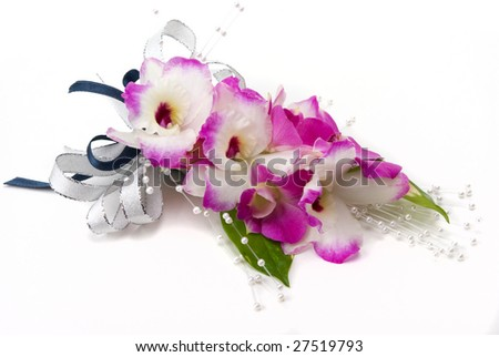 Orchid corsage - stock photo