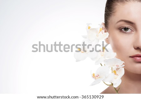 Orchid is a reflection the beauty of woman - stock photo