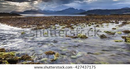 Ord beach on the Isle of Skye. - stock photo