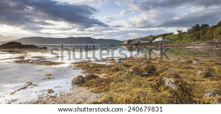 Ord beach on the Isle of Skye in Scotland.