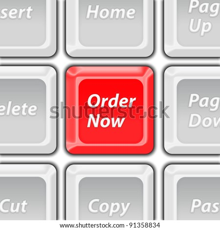 order now keyboard button - stock photo