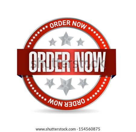 order now seal illustration design over a white background - stock photo