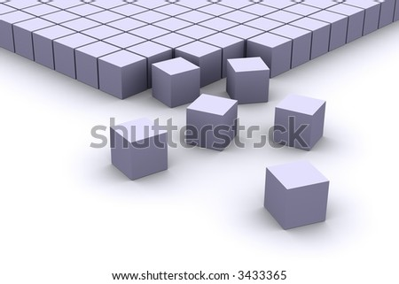 Ordering Cubes - stock photo