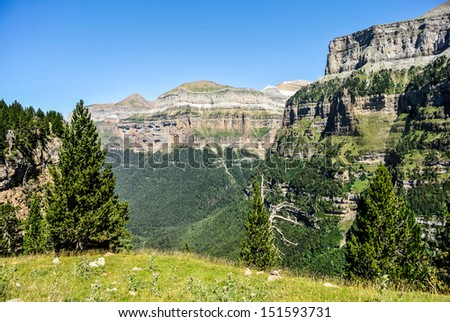 Ordesa Natural Park in Pyrenees (Huesca, Spain)