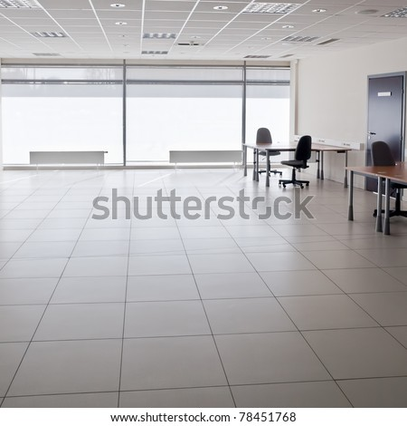 Ordinary empty modern office interior - stock photo