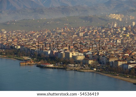 Ordu view from above, Turkey