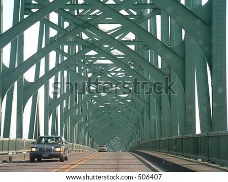 oregon bridge - stock photo